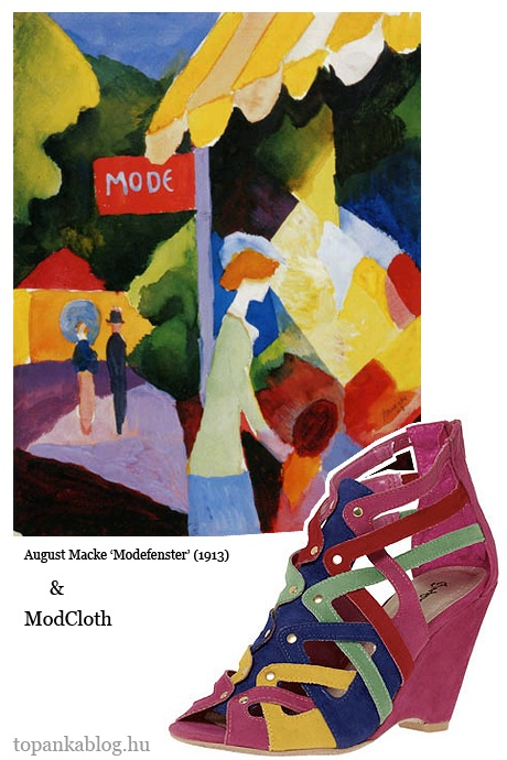 Painting by August Macke, shoes by Modcloth