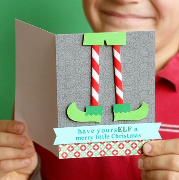 Postal navideña de elfo