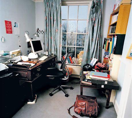Sebastian Faulks' room Photograph by Eamonn McCabe