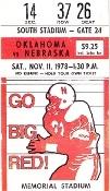 Old Nebraska Football tickets