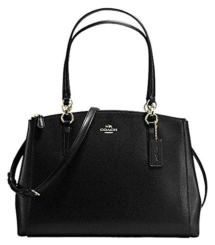 Coach Crossgrain Leather Christie Carryall Shoulder Bag Handbag Black