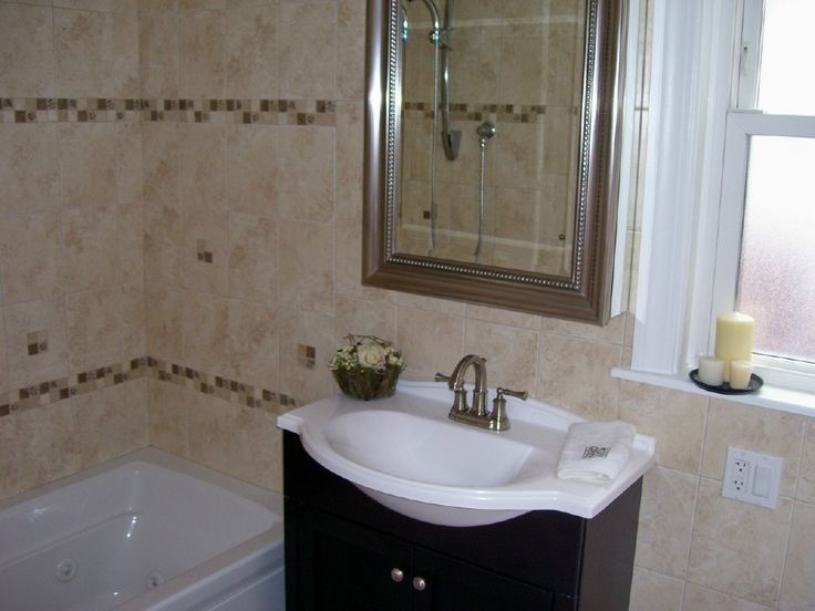 bathroom small bathroom design ideas with bathroom ceramic tile wall design ideas with washbasin cabinet design with white bathtubs with glass window for - Bathroom Tile Ideas Cheap
