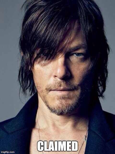 Claimed ~ The Walking Dead I claimed him! He's mine! ;)