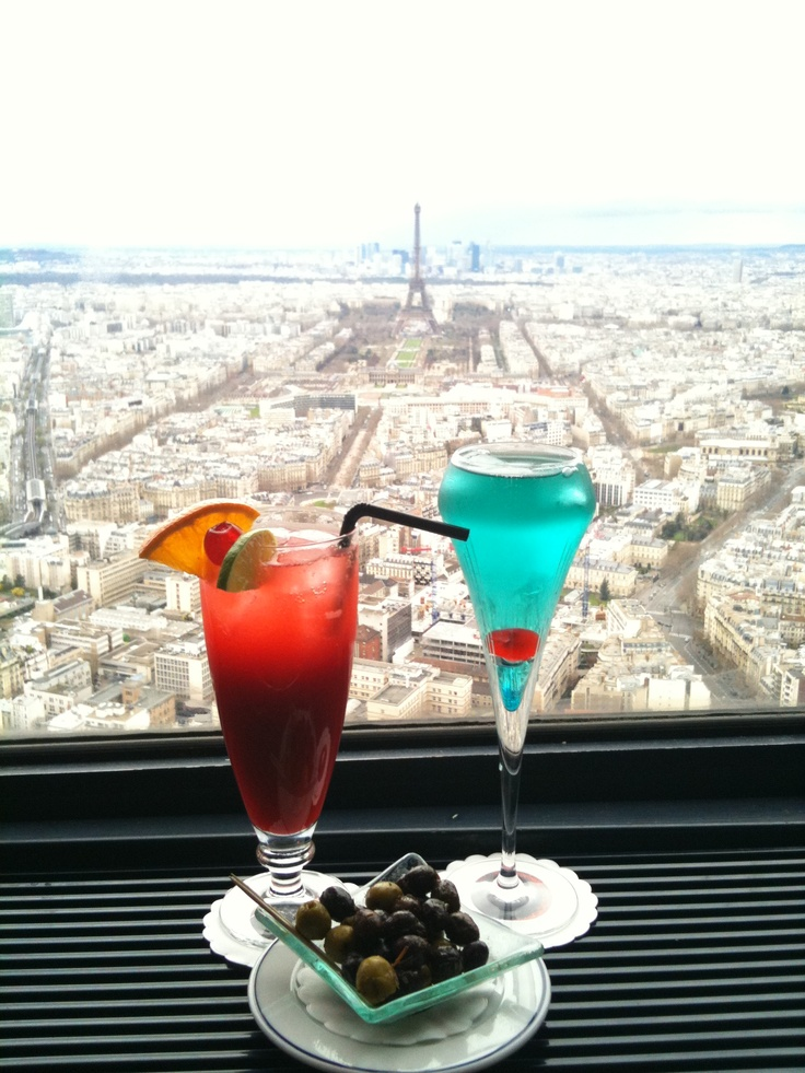 In 2000, my mom and I travelled to France and England. In France, we went to the bar at the top of the Tour Montparnasse with Sebastian Daube, brother of our exchange student. I ordered a kir royale, of course. View from the bar at the top of the Tour Montparnasse in Paris.