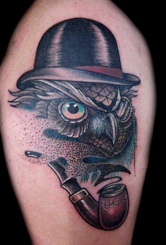 unique-owl-tattoo-design ~ http://heledis.com/some-of-the-owl-tattoo-design/