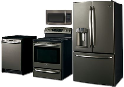 Appliances - SLATE finish - GE - It's not black, not white and not stainless: a NEW appliance finish.