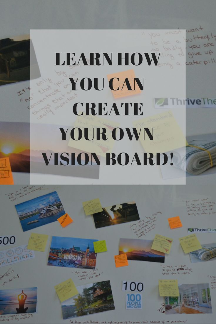 We all have a ton of goals that we want to achieve. The problem? They seem to far away! The solution? A vision board! Basically, a vision board, is where you keep the representations of the goals you want to accomplish, as a way to motivate yourself to work towards that goal! A vision board has the power to change the way you see your goals. They no longer need to be far away from you!