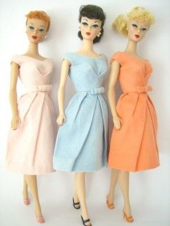 vintage Barbie dolls-These were the only Barbies when I was a little girl.  What fun we had with them!