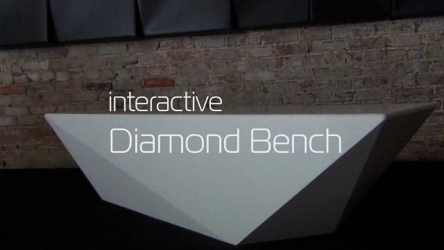 HI-MACS | Diamond Bench | Interactive Lighting Furniture by NunoErin #Furniture #SolidSurface