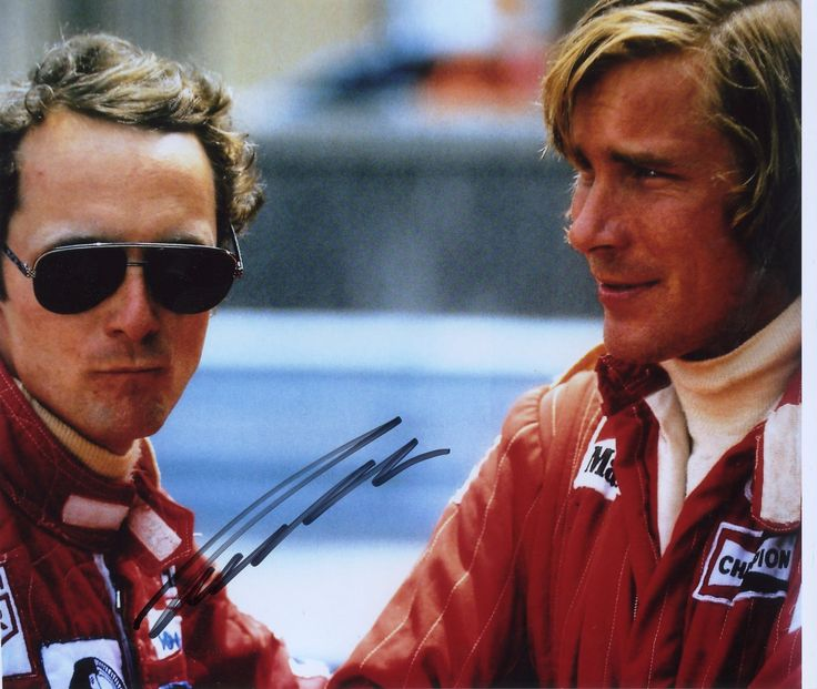 Niki Lauda and James Hunt   The resemblance to these guys is scary.