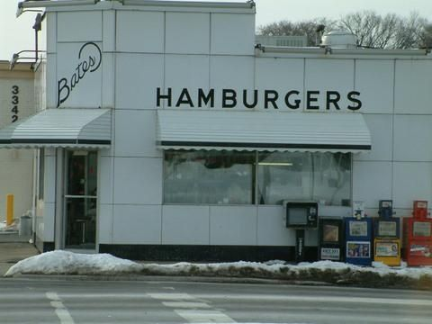 Bates Hamburgers in Livonia, Michigan  When we lived in Novi, we ate their sliders.