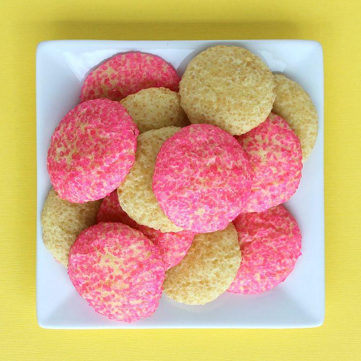 Lemonade Cookies by @Rachel: Desserts Cookies Cupcake, Cookies Bar, Cookies Rolls, Sugar Cookies, Cookies I, Sugar Pink, Pink Sugar, Lemonade Cookies 3, Pink Lemonade Cookies