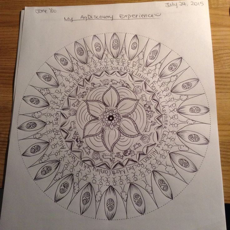 Drawing mandalas of my 2015 Ag Discovery summer experience