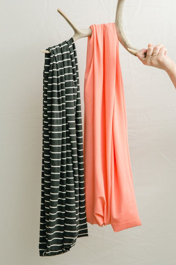 Coral Bamboo Nursing Infinite Scarf / Nursing Cover by NativeWilds