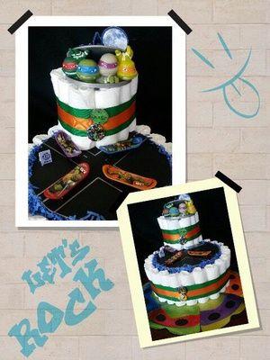 Diaper Cake Craft Ideas