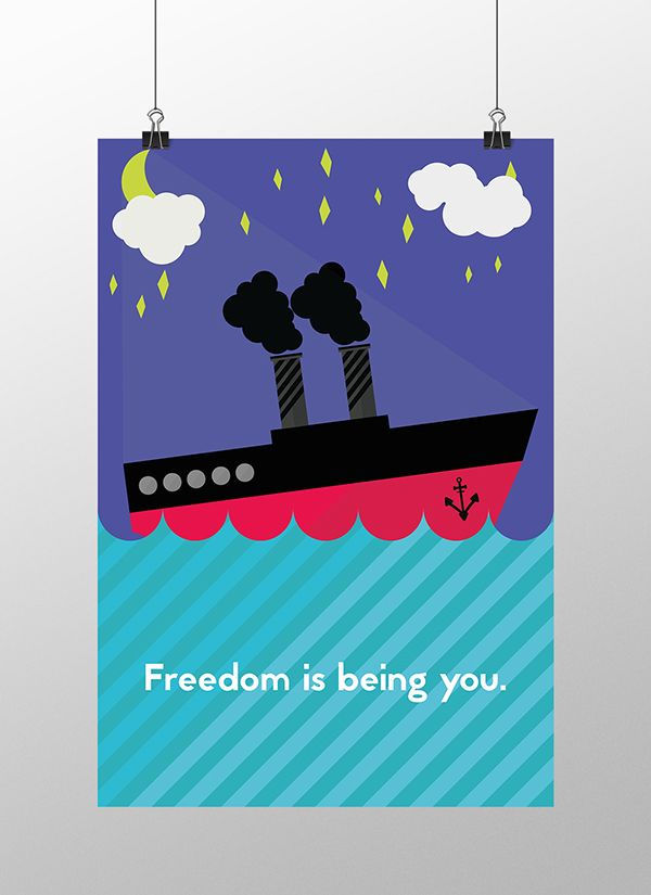 Freedom is being you on Behance