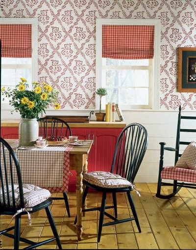 53 best images about red country kitchen on pinterest for Red and white country kitchen ideas