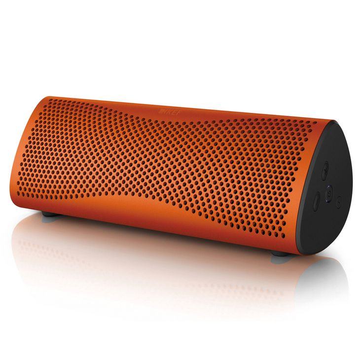 KEF MUO WIRELESS SPEAKER ORANGE http://soundzdirect.com/kef-muo-bluetooth-speaker/