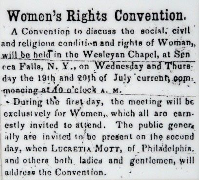 Call to SF convention Seneca County Courier July 14 1848.