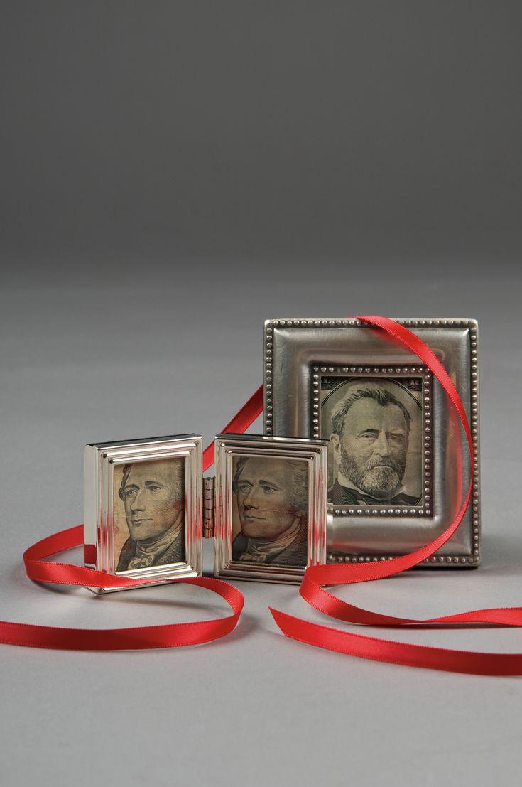 Creative ways to give money—mini frames.