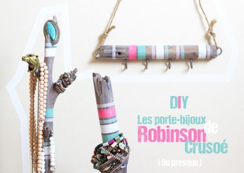 DIY Wood and Hooks Jewelry Display Tutorial from Artlex.Make a...