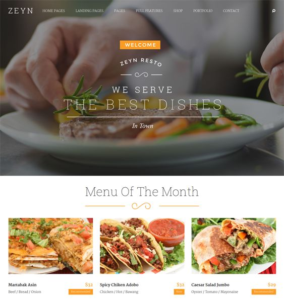 This restaurant theme for WordPress has a responsive layout, a drag and drop page builder, Revolution Slider, cross-browser compatibility, a Bootstrap framework, WPML and WooCommerce compatibility, and more.