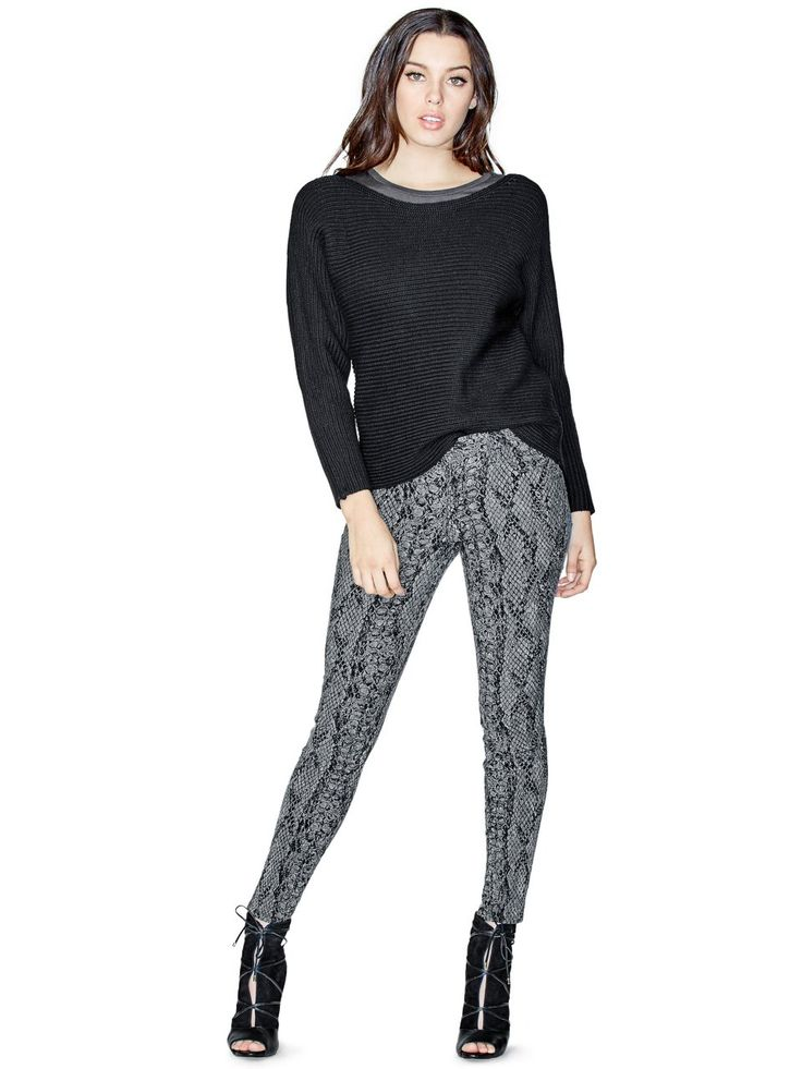 Mid-Rise Curve X Jeans with Python Print