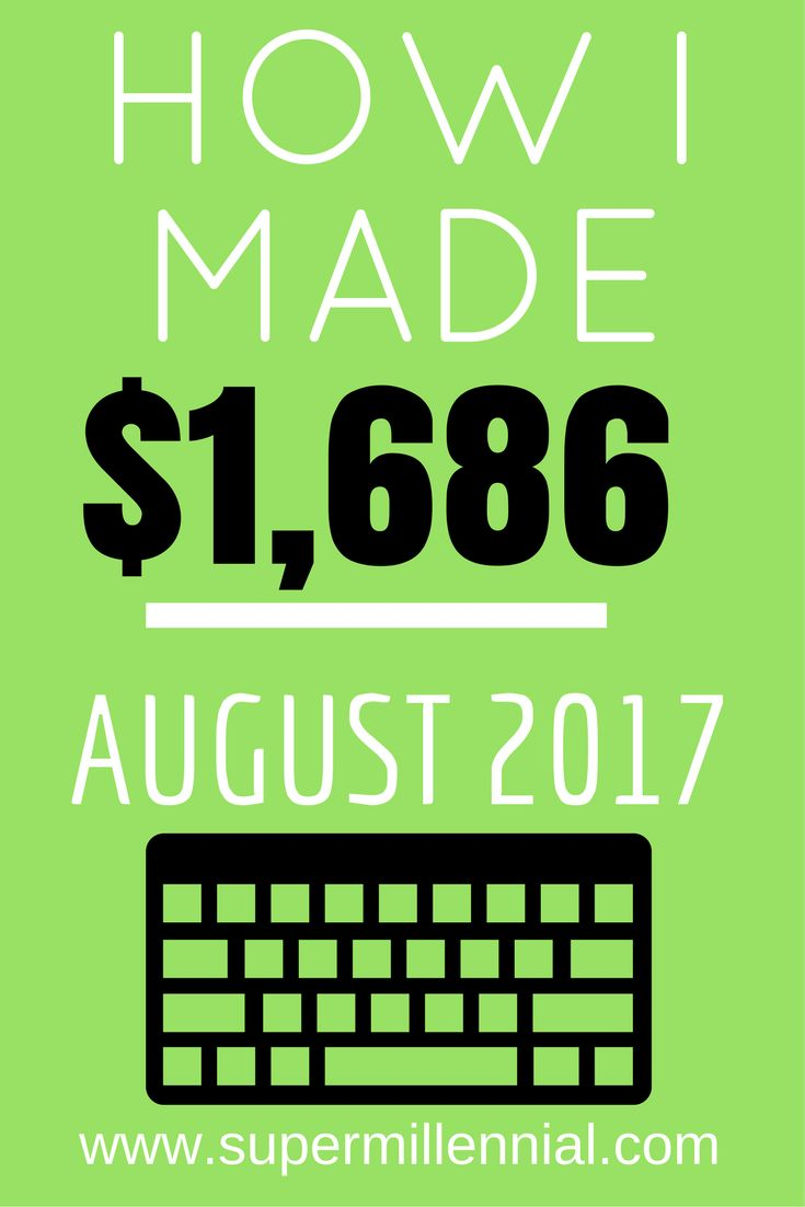 how i made $1,686 | super millennial | august income report | blogger | blogging tips