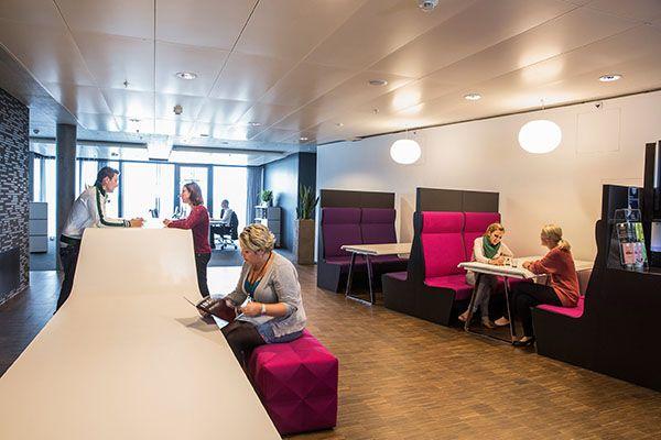 Aufenthalts-und Rückzugszonen für Mitarbeitende nach individuellem Kundenwunsch für den Cafeteria-Bereich.