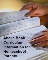 Abeka book - Curriculum information for homeschool parents