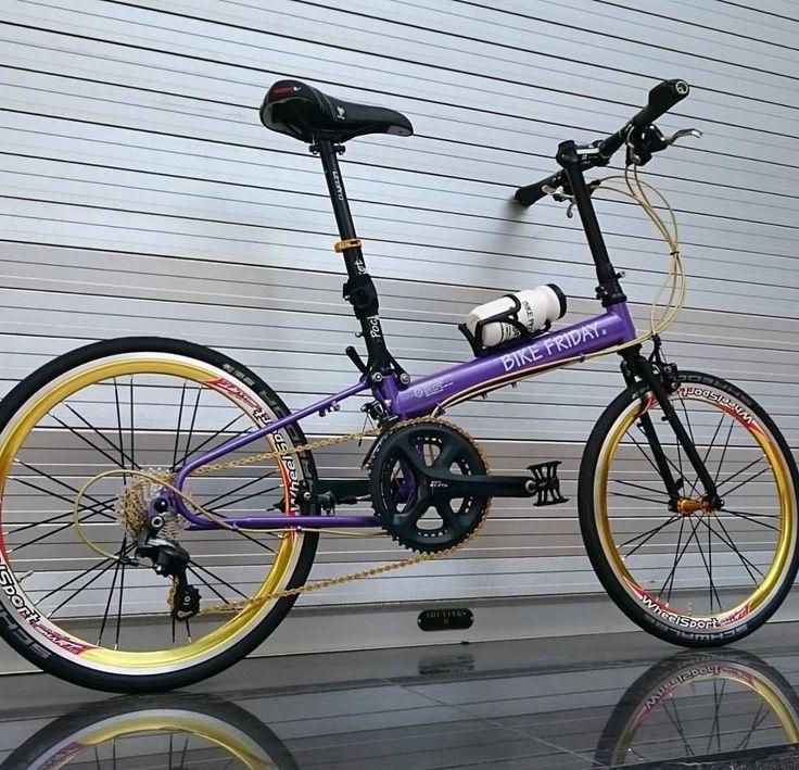 いいね!24件、コメント2件 ― Toshiya Yamaguchさん(@ymg1048)のInstagramアカウント: 「#bikefriday #newworldtourist #foldingbike #minivelo #wheelsports #purple #バイクフライデー #折りたたみ自転車 #ミニベロ…」