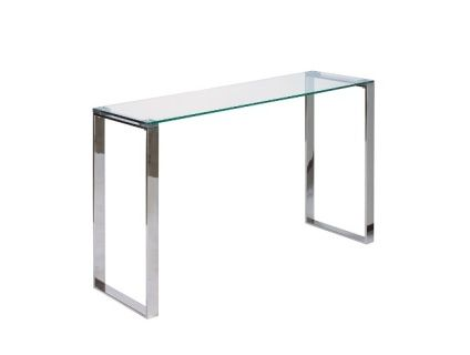 The David Console Table is made of polished steel frame and tempered glass top  Size: 120×35×78 cm  Contact us for pricing.