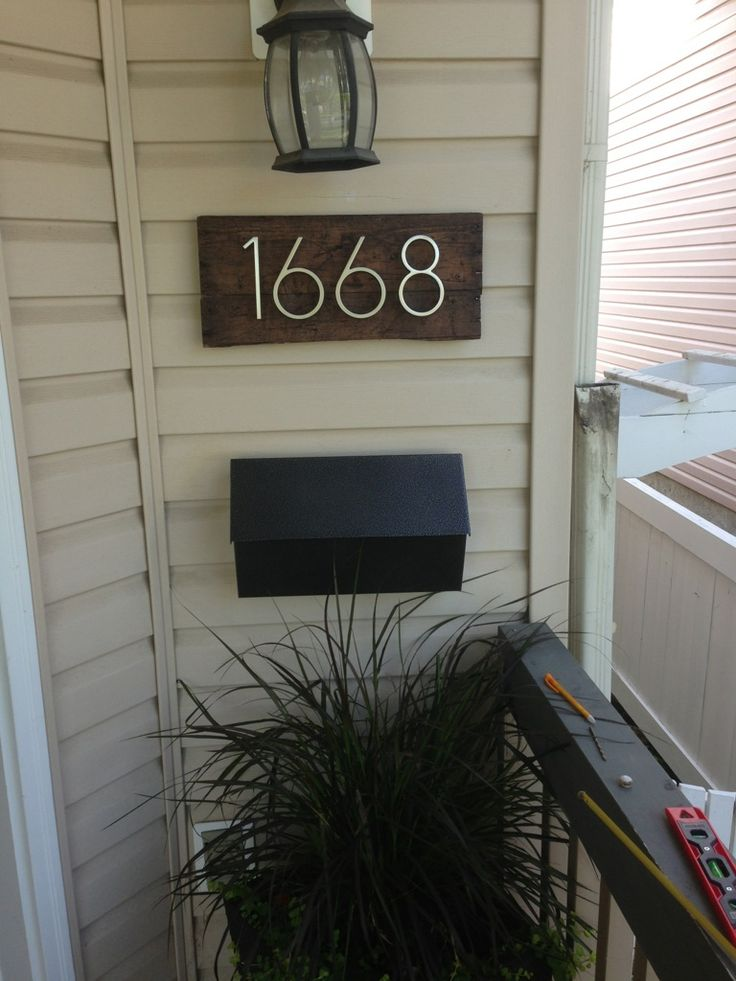 Vamped up my house numbers and mailbox stained some old for What to do with old mailbox