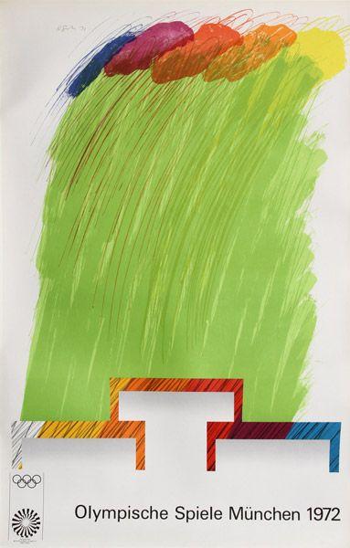 Artist: Richard Smith, British (1931 - 2016) Title: Olympische Spiele Muenchen Year: 1972 Medium: Poster mounted on linen Edition: 3000 Size: 40 in. x 25 in. (101.6 cm x 63.5 cm)