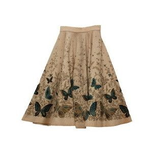 Vintage Unknown Embroidery Skirt - VINTAGE - Rous Iland