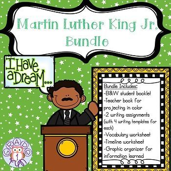 Martin Luther King Jr. mini books and practice pages! Great resource for MLK Jr. Day and Black History Month!