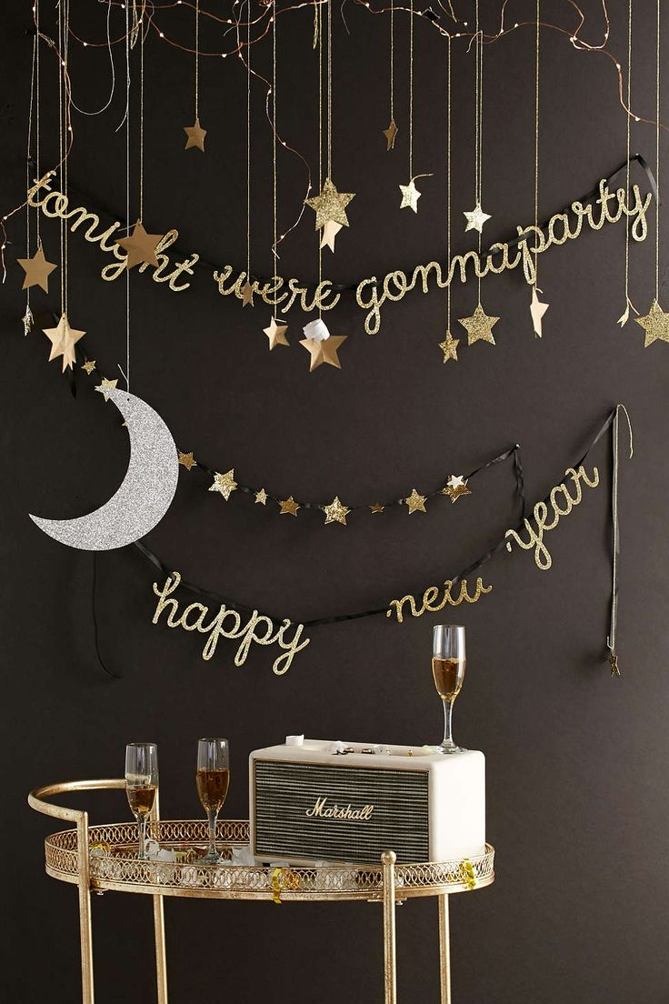 Meri Meri Moon And Star Hanging Decorations - Urban Outfitters - New Year's  decor