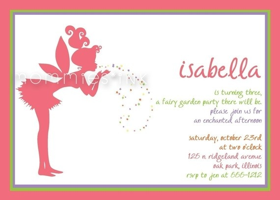 17 best images about Fairy Magical 6th Birthday – 6th Birthday Party Invitation Wording