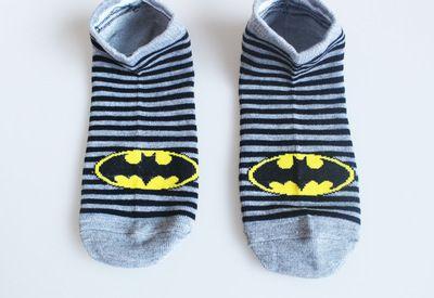 夏季全棉男女船袜蝙蝠侠 欧美风格 情侣同款