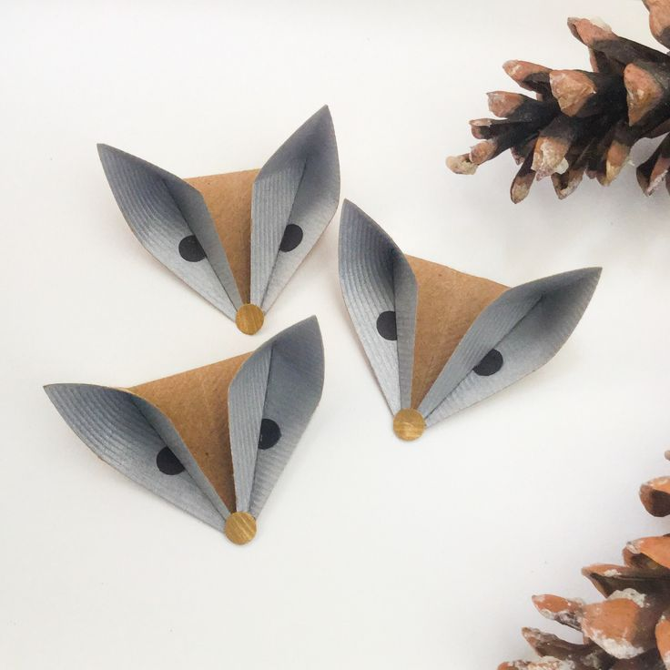 Paper foxes from SodaPop-Design