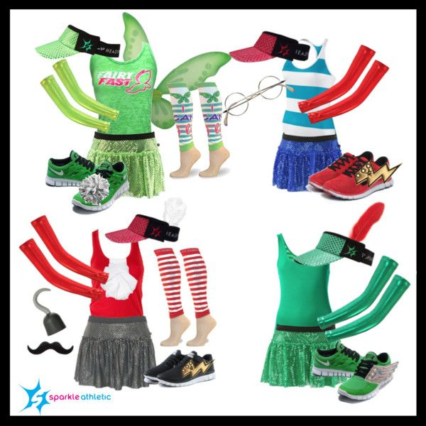 Neverland Running Costumes | runDisney | Running | Race Costume | Disney | Sparkle Athletic | #TeamSparkle | Halloween | Athletic Costume | Captain Hook | Tinker Bell | Peter Pan | Mr. Smee