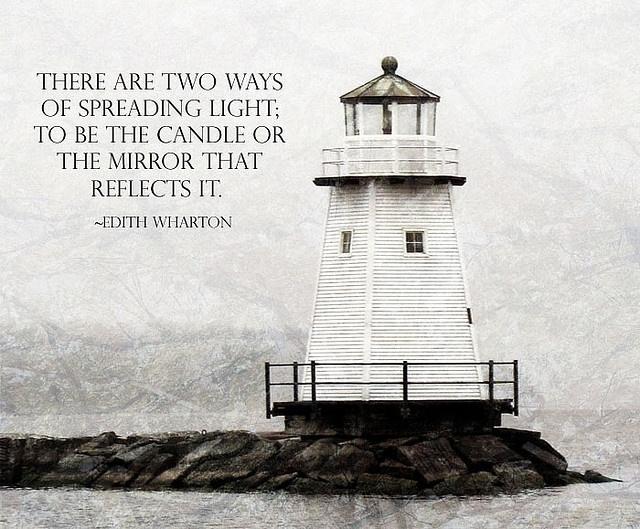 Lighthouse postcard by Unskinny Boppy, via Flickr