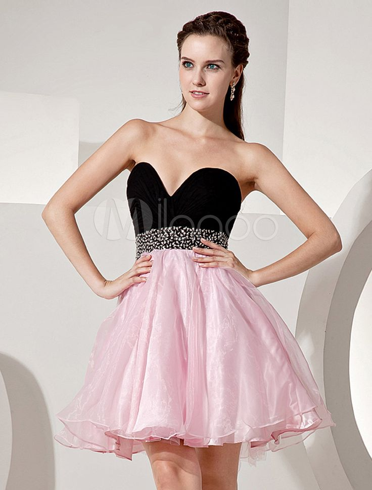 #Milanoo.com Ltd          #Homecoming Dresses       #Sweetheart #Strapless #Beading #Organza #Homecoming #Dress                   Sweetheart Strapless Beading Organza Homecoming Dress                                                   http://www.seapai.com/product.aspx?PID=5682616