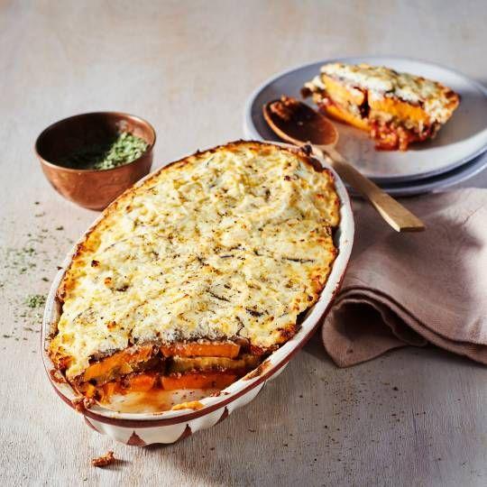 Boodschappen - Zoete-aardappel-moussaka