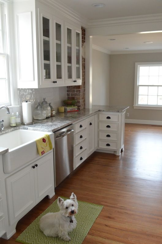 Walls Benjamin Moore Revere Pewter Cabinets White Dove In Satin Impervo Finish