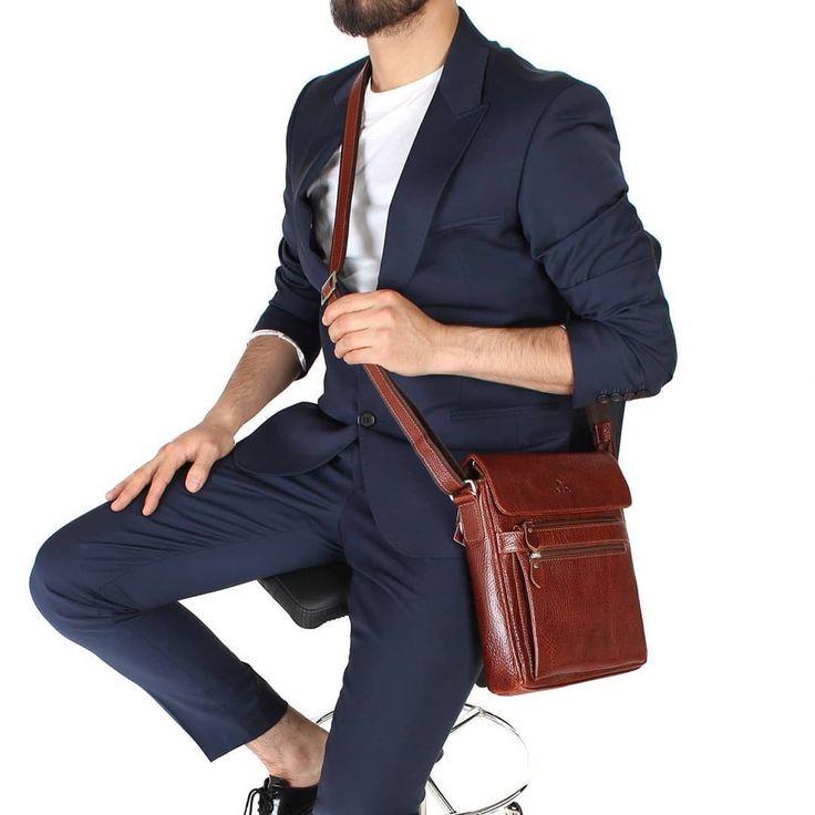Photo of model no 323-63 Genuine Leather Shoulder Bag www.akaderi.com.t … Shoulder …