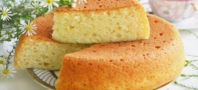 ванильный бисквит на кипятке рецепт
