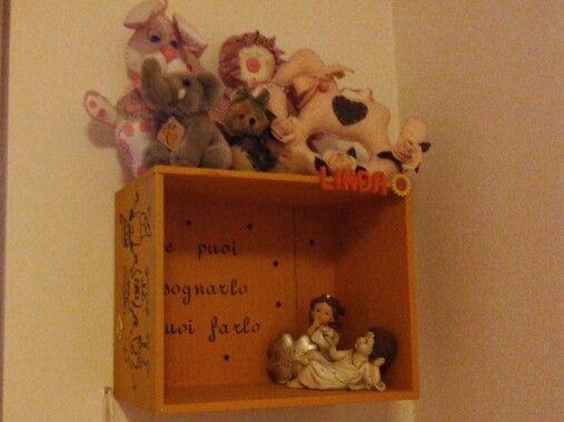 Shelves for baby / riciclo cassette di vino