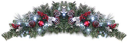 WeRChristmas 90 cm Frosted Decorated Pre-Lit Arch Garland Christmas Decoration Illuminated with 20 Cool White LED Lights WeRChristmas http://www.amazon.co.uk/dp/B00KISC2IC/ref=cm_sw_r_pi_dp_rGjvwb1JGYGDZ