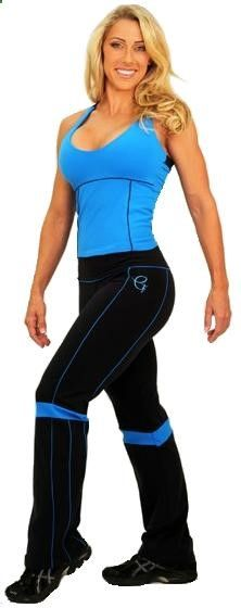 Very sexy and comfortable!! Wonderful pant for athletic women! Pant is black with thin blue lines on the sides and stripes on the knees. 100% supplex. Ideal for any sports activities. Woman Sport Clothes. Woman Exercise Clothes. Woman Gym Clothing. Activewear for women. Workout Wear for women. Women Fitness Clothes.